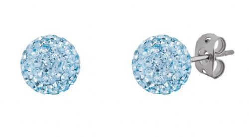 Tresor Paris 8mm Light Blue Medium BonBon Stud Earrings